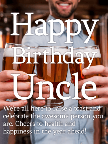 To my Awesome Uncle - Happy Birthday Wishes Card