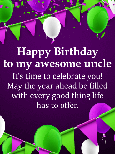You are Awesome! Happy Birthday Wishes Card for Uncle
