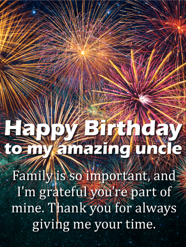I am Thankful - Happy Birthday Wishes Card for Uncle