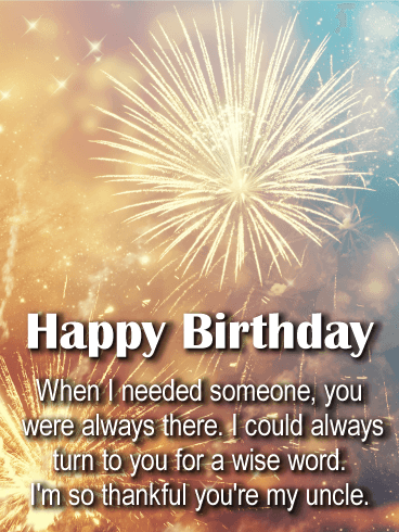 You're Always There - Happy Birthday Wishes Card for Uncle