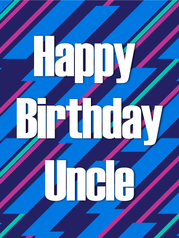 Artistic Happy Birthday Card for Uncle