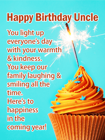 To Your Happiness - Happy birthday Card for Uncle