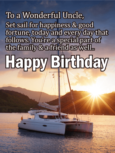 Set Sail for Happiness - Happy Birthday Card for Uncle