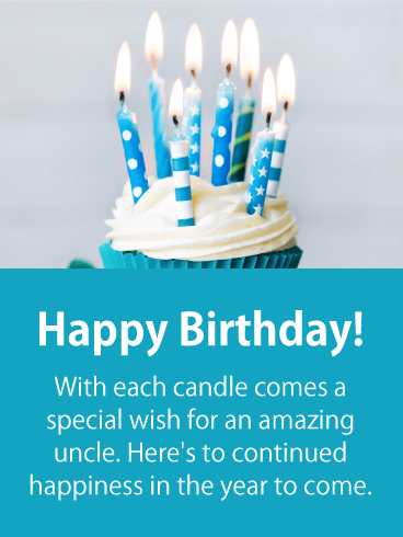 Blow Out The Candles Happy Birthday Card For Uncle