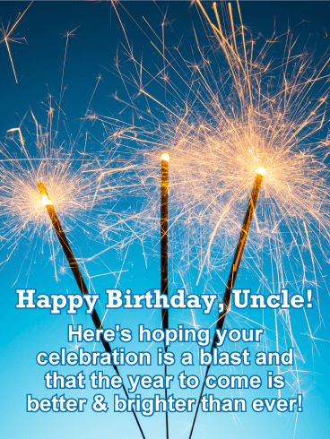 Bright Happy Birthday Card for Uncle