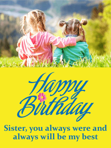 Touching Happy Birthday Card for Sister