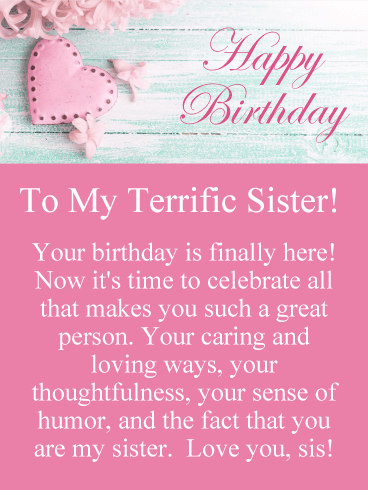 Superb Birthday Wishes For Sister Birthday Wishes And Messages By Davia Funny Birthday Cards Online Inifofree Goldxyz