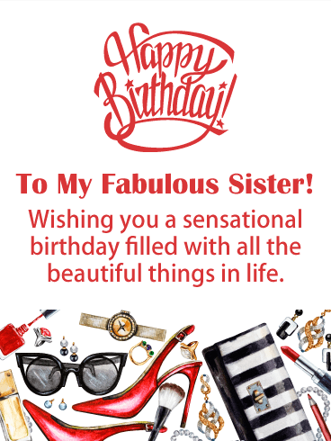 To a Fashionable Sister - Happy Birthday Card