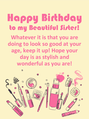 To a Stylish Sister - Happy Birthday Card