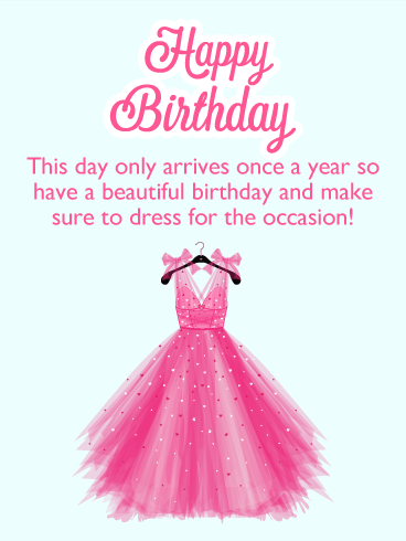Birthday Card....Dress Design