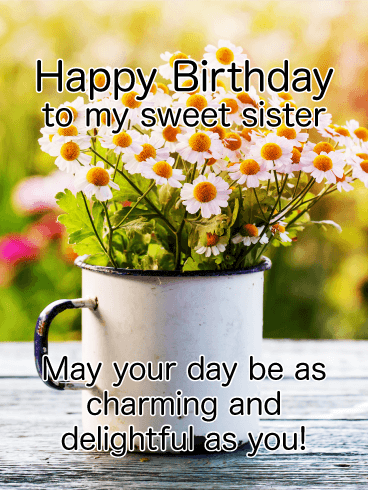 To my Charming Sister - Happy Birthday Card