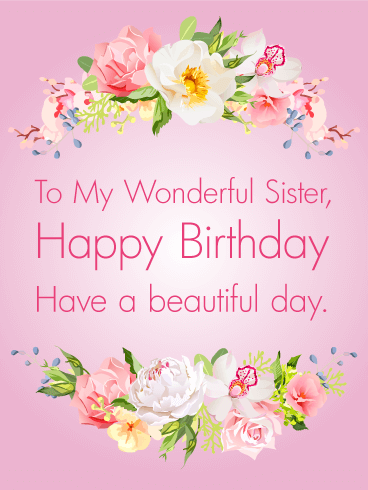 Gorgeous flowers happy birthday card for sister birthday gorgeous flowers happy birthday card for sister bookmarktalkfo Image collections