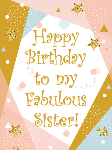 Happy Birthday Card For Sister