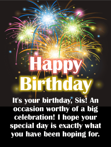 Happy Birthday Sister Messages with Images - Birthday Wishes