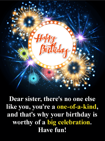 Sparkle and Shine! Happy Birthday Card for Sister