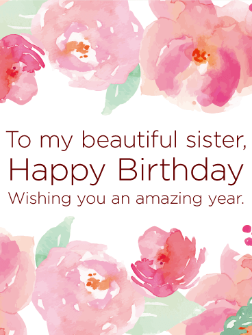 Wishing You An Amazing Year Happy Birthday Card For Sister