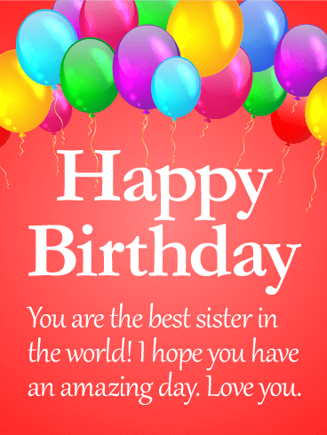 Love You Sis! Happy Birthday Card