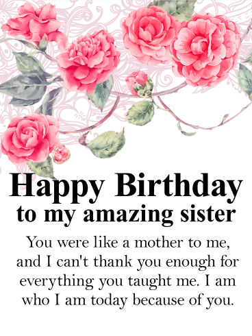 Strange Stunning Rose Happy Birthday Wishes Card For Sister Birthday Personalised Birthday Cards Paralily Jamesorg