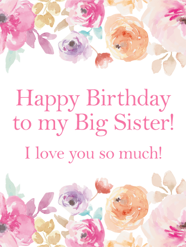 Birthday Cards For Big Sister Birthday Greeting Cards By Davia