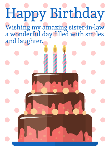 Birthday Cards For Sister In Law Birthday Greeting Cards By