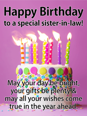 happy birthday sister in law messages with images birthday wishes