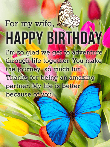 You Make the Journey Much Fun - Happy Birthday Card for Wife