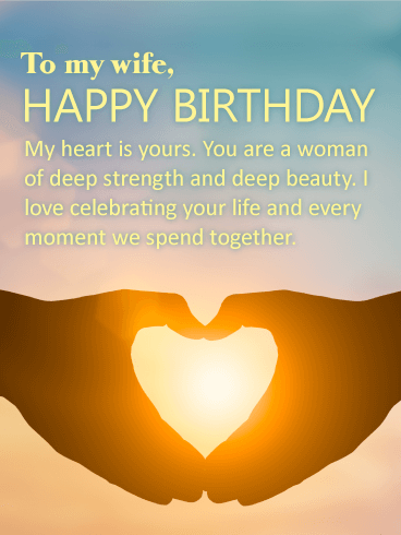 you have deep beauty happy birthday card for wife birthday