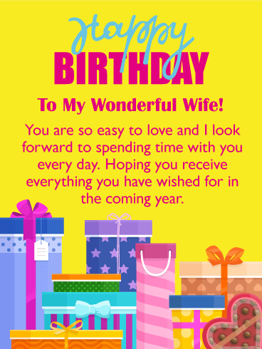 You Are Easy To Love Happy Birthday Card For Wife Birthday