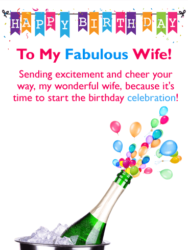 Sending Cheer! Happy Birthday Card for Wife