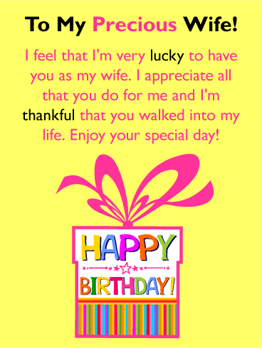 Very Lucky to Have You! Happy Birthday Card for Wife