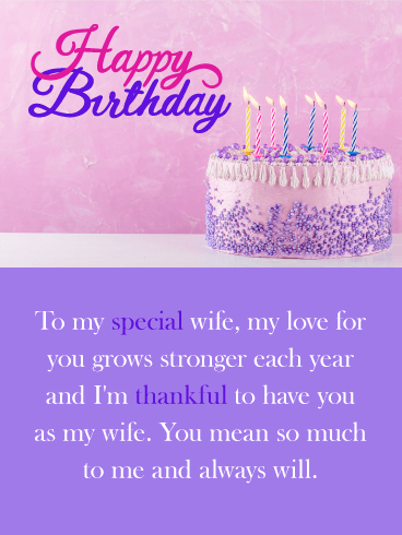 You Mean so Much! Happy Birthday Card for Wife