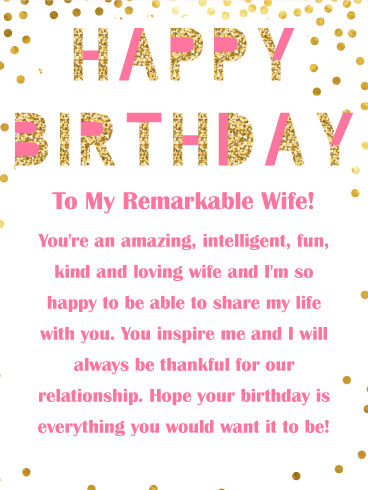 Thankful for Our Relationship - Happy Birthday Card for Wife