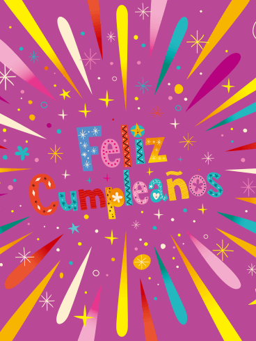 Happy Birthday In Spanish.Happy Birthday Card For Kids In Spanish Feliz Cumpleanos
