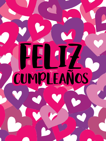 Lovely Happy Birthday Card In Spanish Feliz Cumpleaos Birthday