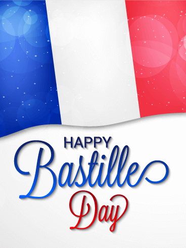 Shining Happy Bastille Day Card