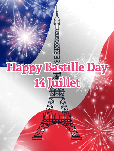 Eiffel Tower Happy Bastille Day Card