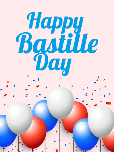 Happy Bastille Day Balloon Card