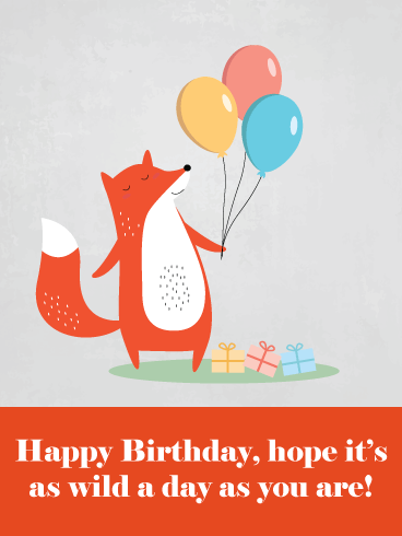 To a Wild One – Happy Birthday Animal Card
