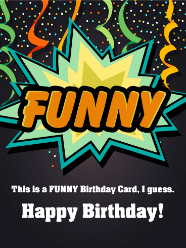 Ta-Dah! Funny Birthday Card