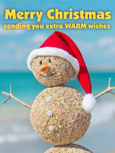 Extra Warm Wishes for You! Funny Christmas Card