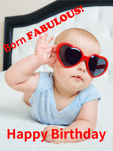 Born Fabulous! Funny Birthday Card