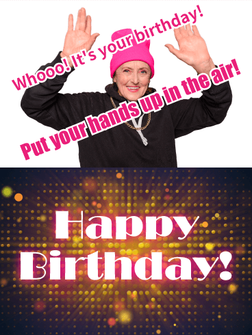 Put Your Hand Up! Funny Birthday Card