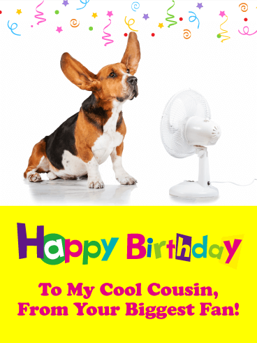 From Your Biggest Fan! Funny Birthday Card for Cousin