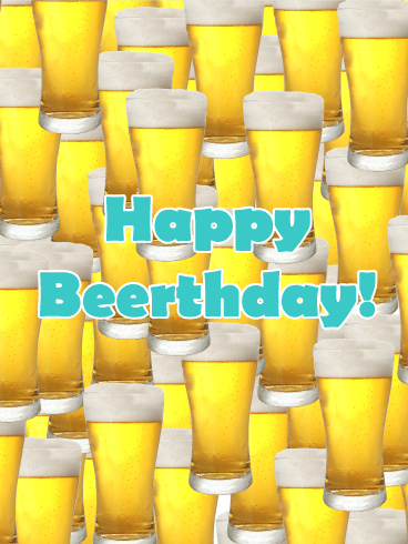 "Funny Happy ""Beerthday"" Card"