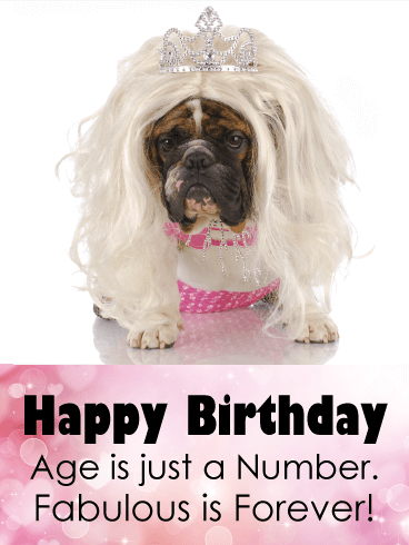 Fabulous is Forever - Funny Birthday Card