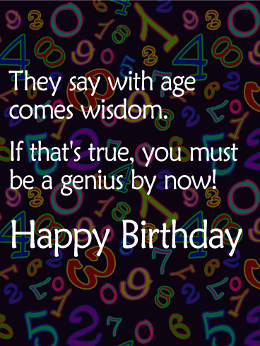 Age is Just a Number - Funny Birthday Card