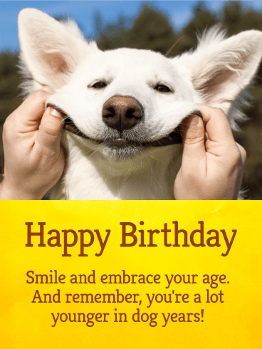 Lets Smile Funny Birthday Card