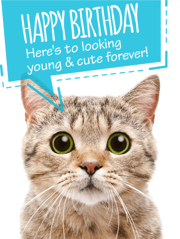 To Look Young Cute Funny Birthday Card