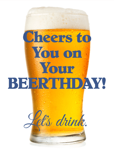 Beerthday! Funny Birthday Card