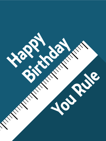 You Rule! Funny Birthday Card